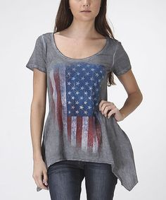 Another great find on #zulily! Gray American Flag Burnout Tunic by CottyOn #zulilyfinds