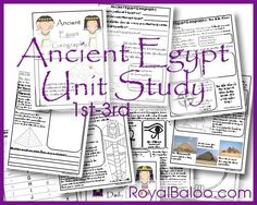 Free Ancient Egypt Unit Study Grade by Royal Baloo Ancient Egypt Lessons, Ancient Egypt Activities, Ancient Egypt For Kids, Ancient History, Ancient Aliens, Ancient Greece, 6th Grade Social Studies, Teaching Social Studies, Teaching History