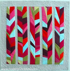 made by ChrissieD: Shattered Chevrons & Broken Arrow Blocks - Skill Builder BOM: June/FMQ