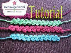 Tutorial 9 . * Bracciali Zig-Zag * Simil - Cruciani . How to Crochet Bracelets - YouTube