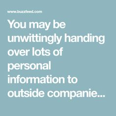 You may be unwittingly handing over lots of personal information to outside companies through Facebook. Here's how to see what you're giving up and how to change your settings.
