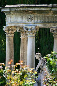 Huntington Library garden in Pasadena California. Dream Garden, Garden Art, Garden Design, Gazebos, Parks, Garden Statues, Sculpture Garden, Garden Inspiration, Beautiful Gardens