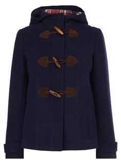 Image 4 of SHORT CHECKED DUFFLE JACKET from Zara | To wear, to ...