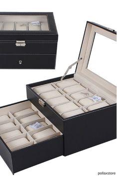 Leather Watch Box, Pu Leather, Jewelry Watches