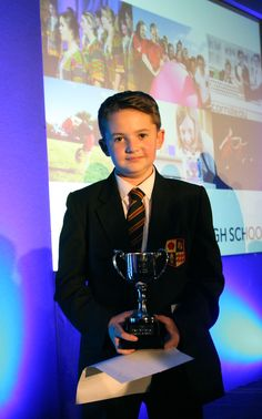 Andrew (Year 8) winning 'The Paul McParlan Triple A Award'