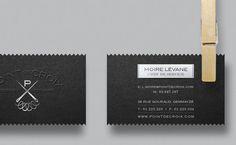 Point de Croix by Clement Nasr, via Behance Business Cards And Flyers, Letterpress Business Cards, Business Card Design, Graphic Design Print, Graphic Design Typography, Graphic Design Inspiration, Brand Identity Design, Branding Design, Logo Design