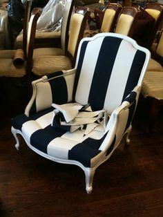 Gotta love a good B & W stripe chair!!!!