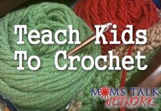 Teach Kids to Crochet in five videos. Wonder if there is a knitting one.