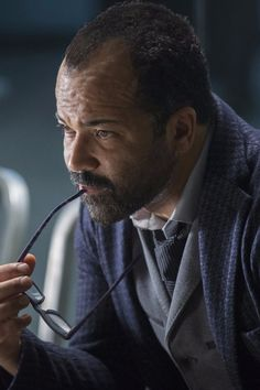 """Aaron Bady on the big twist in the latest episode of """"Westworld,"""" and on the ways in which the sci-fi show diverges from HBO's """"Game of Thrones. Westworld Hbo, Westworld Season 1, Westworld 2016, Teaser, Science Fiction, Jeffrey Wright, Big Twist, Men In Black, Movies"""