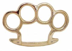 Brass Knuckles Belt Buckle