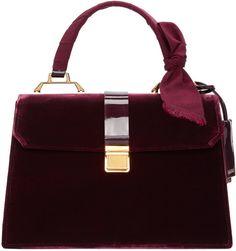 Miu Miu Burgundy Velvet Duffle Bag | #Chic Only #Glamour Always