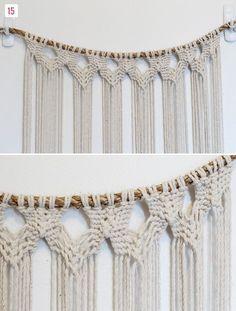 DIY Macrame Hanging | Green Wedding Shoes Wedding Blog | Wedding Trends for Stylish + Creative Brides #SilkyJean #Bohemian #Boho