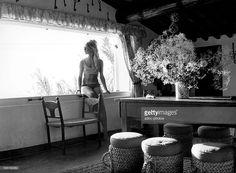 Brigitte Bardot (1934-), in her villa of La Madrague in Saint-Tropez (Var, France). In 1965.