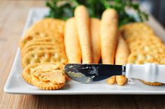 Cheese Carrots and Crackers