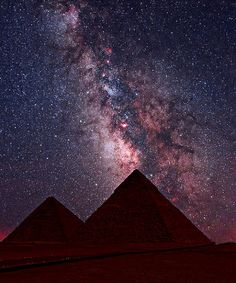 Giza Pyramids Under The Sky Goddess ..by Martin P Campbell