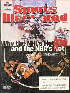 Sports Illustrated Magazine Issue Why The NHL's Hot And The NBA's Hot June 2014