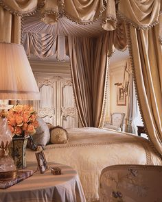 40 Stunning Luxury Champagne Bedroom Design Ideas With Elegant Look - On the off chance that you need to quit fooling around about discovering existence in your life for sleep together, you will need to plan reality for . Dream Bedroom, Home Bedroom, Bedroom Decor, Canopy Bedroom, Bedroom Furniture, Master Bedroom, House Canopy, Bedroom Ideas, Champagne Bedroom