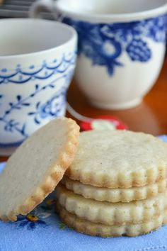 Vanilla Bean Shortbread Tea Cookies - The View from Great Island...could do flavor varieties such as cranberry and orange or green tea using matcha powder.