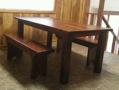 Rustic Farm Dining Table wooden by McKinneyCreekCrafts on Etsy