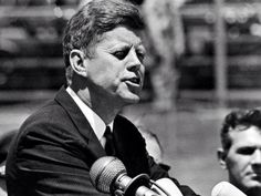 """May 18, 1963. JFK at Vanderbilt University: """"""""Every man sent out from a university should be a man of his nation as well as a man of his time."""" You have responsibilities, in short, to use your talents for the benefit of the society which helped develop those talents. You must decide, as Goethe put it, whether you will be an anvil or a hammer, whether you will give to the world in which you were reared and educated the broadest possible benefits of that education."""""""