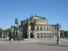 The famous Semperoper on the Theaterplatz in Dresden
