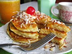 A brunch idea for this weekend from Beekman 1802: coconut pancakes