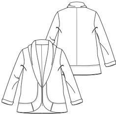 1dee9c2da Patronaje industrial  patrones moldes ropa para marcas de nivel mundial  Saco 7009 DAMA Saco Patronaje