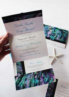 NZ Paua Wedding Invitation