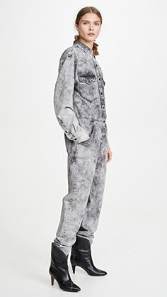 Isabel Marant Etoile Idesia Jumpsuit | SHOPBOP | Use Code SPRING | Save Up to 25% Boiler Suit, Denim Jumpsuit, Classic Sneakers, China Fashion, Stretch Denim, Vintage Outfits, Winter Jackets, Normcore, Long Sleeve