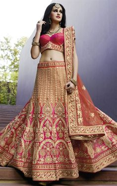 Picture of Smashing Deep Pink Bridal Designer Lehenga Choli