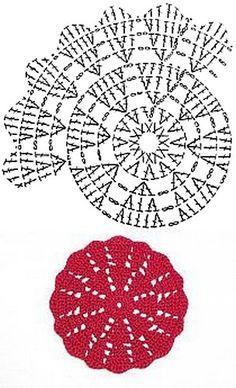 Hobby: Damskie pasje i Odkryj i pokaż innym Twoje hobby.Crochet doily Step by step TutHobbies For 7 Year OldsHobbies With Wood Refferal: 2935308653 How to conn Crochet Coaster Pattern, Crochet Motif Patterns, Crochet Diagram, Crochet Chart, Thread Crochet, Crochet Designs, Crochet Stitches, Crochet Round, Crochet Squares