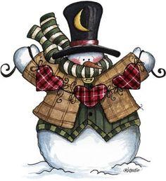 yasminx sewing ideas: decoupage prints for kitchen (mutfak için dekupaj resimleri) Snowman Clipart, Christmas Clipart, Christmas Printables, Christmas Pictures, Christmas Snowman, Xmas, Christmas Stickers, Frosty The Snowmen, Cute Snowman