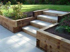 Cool sloped garden ideas.