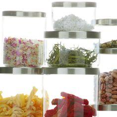 Storage Aufbewahrungsdose von Jenaer Glas - Das porenfreie Glas bleibt garantiert geruchsneutral. Nach Verwendung einmal in die Spülmaschine und mit etwas gänzlich anderem neu befüllen – jedes Mal erhält das Glas die Aromatreue. Das Glas ist leicht und hygienisch zu reinigen.  -  D 111 H 70 (0,5L) 120 (0,9l) 185 (1,4l)