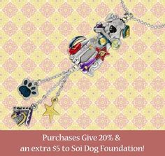 For a limited time, for every one of these Diggity Dog car charms sold, Greater Good will donate USD $5 to Soi Dog. Furthermore, if you purchase by following this link, Greater Good will donate 20% of what you spend, in addition to the USD $5: http://greatergood.me/143rjiK  Please consider treating yourself today, or purchasing a gift for a loved one, and know that you are helping to provide treatment for the dogs and cats in Soi Dog's care.