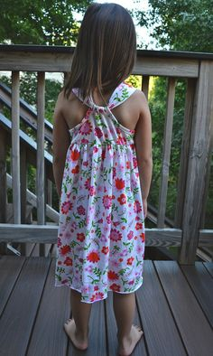 Racerback Knit Sundress -- printable bodice pattern in sizes 3, 5, and 7 plus measurements to cut rectangles for skirt & shoulder strap;  the full tutorial in three parts; and a bonus lesson on seam allowances.  Very nicely explained with clear photos.