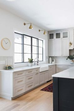 BM Husky grey The wall paint color is Sherwin Williams Extra White SW 7006 Light grey kitchen with white walls painted in Sherwin Williams Extra White Light Gray Cabinets, Light Grey Walls, Grey Kitchen Cabinets, Painting Kitchen Cabinets, White Walls, Kitchen Grey, White Cabinets, Lemon Kitchen, Garage Cabinets