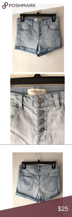 Pacsun button up shorts Used to be my favorite shorts PacSun Shorts Jean Shorts