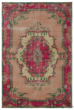 "For a contemporary look with a vintage appeal, we source rugs in excellent condition and carefully trim the piles to achieve an eye-catching ""distressed"" look. Woven with wool on cotton, this fine rug measures 6'3'' x 9'5'' (190 cm x 286 cm). In addition to being unique and hand-made, these rugs make a very special statement about bridging generations of artisanal skill and knowledge over time with a charming look that complements any modern or bohemian décor. Check out our article Get The…"