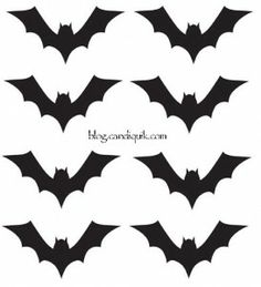 {Free} Printables - Bat Template for Halloween Cupcake Toppers