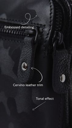 Handcrafted in our Toronto leather factory from high-quality camo leather from a tannery in the north of Italy. Leather Factory, All Black Sneakers, Toronto, Camo, Italy, Handbags, Detail, Collection, Fashion