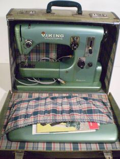 antique husqvarna viking automatic class #21+ embroidery sewing machine w/extras