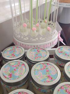 Elegant bridal Shower -garden theme -cupcakes and cake pops