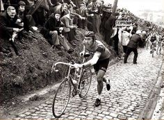Eddy Merckx, The Cannibal, running up the Koppenberg! Back when we only had 5 rear cogs.