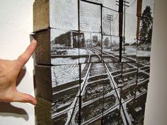 Silkscreen process railroad