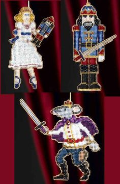Mill Hill Beads Cross Stitch Kit ~ NUTCRACKER BALLET Set of 3 #18-8302 Sale