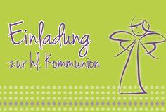 Einladungskarte Kommunion Engel von druckkopf - kreativ mit köpfchen auf DaWanda.com