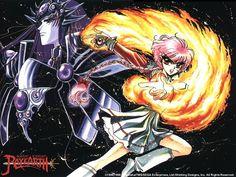 magic knight rayearth picture for large desktop (Rollo Little Manga Anime, Old Anime, Magic Knight Rayearth, Xxxholic, Dragon King, Another Anime, Mermaid Art, Illustrations, Cardcaptor Sakura