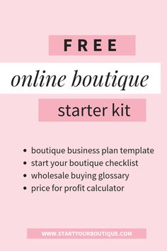 Beginner's Guide for Starting an Online Clothing Boutique Online Business Plan, Business Plan Template, Business Planning, Starting A Clothing Business, Boutique Names, My Boutique, Starting A Online Boutique, Online Fashion Boutique, Selling Online