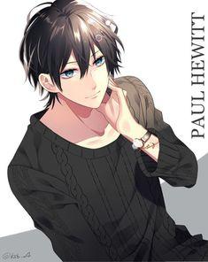 Anime black out paul hewitt single tall image looking at viewer shor Cool Anime Guys, Handsome Anime Guys, Cute Anime Boy, Anime Boys, Fanarts Anime, Anime Characters, Manga Boy, Manga Anime, Tamako Love Story